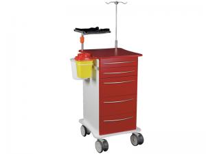 Akutvagn med hållare för defibrillator, CareVan V10