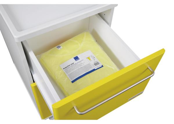 Infektionsvagn - Isoleringsvagn - Närbild låda