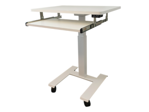 Pulpetbord med tangentbordshylla (höj- & sänkbart bord) - Elektrisk