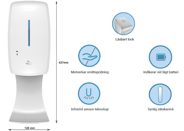 Automatisk handsprit dispensers, Vägg bild 3