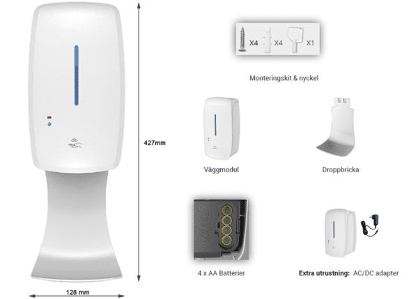 Automatisk handsprit dispensers, Vägg bild 2