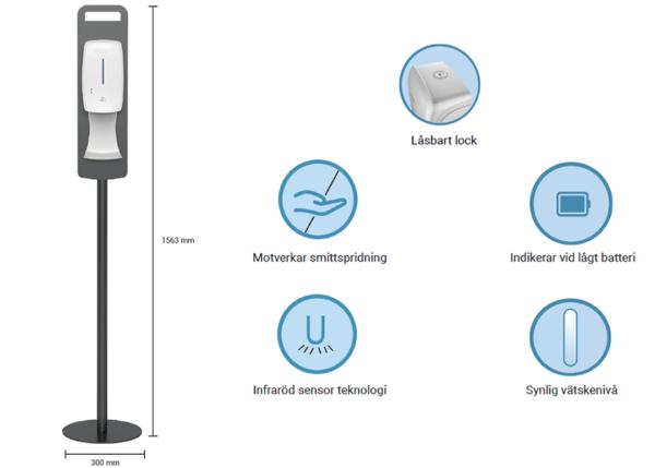 Automatisk handsprit dispensers, Golv, bild 2