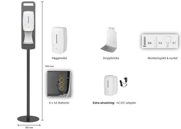 Automatisk handsprit dispensers, Golv, bild 3