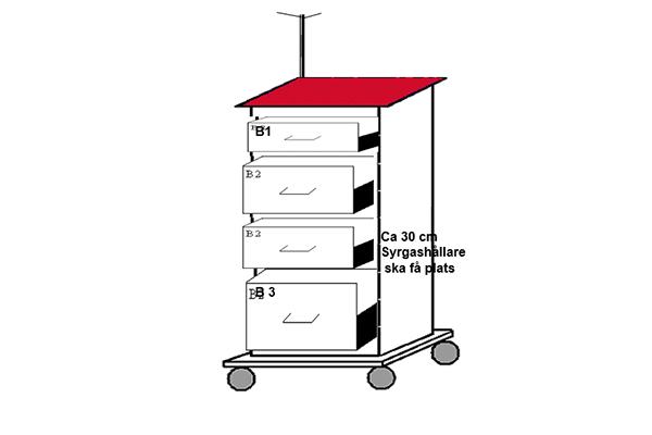 Akutvagn komplett med 4 lådor